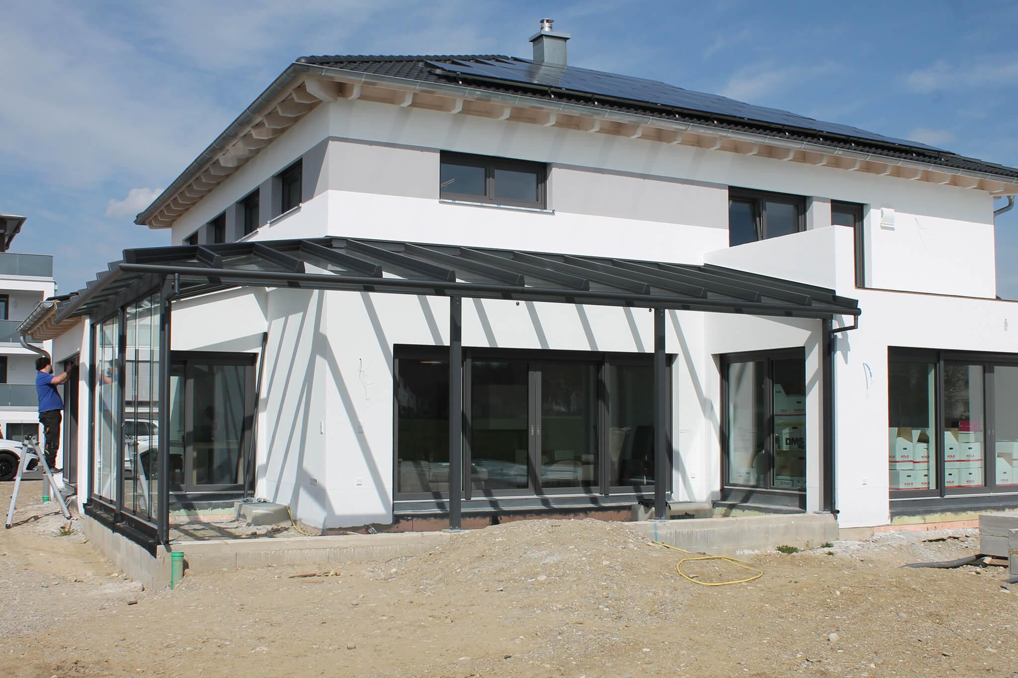 Überecklösung Terrassenüberdachung