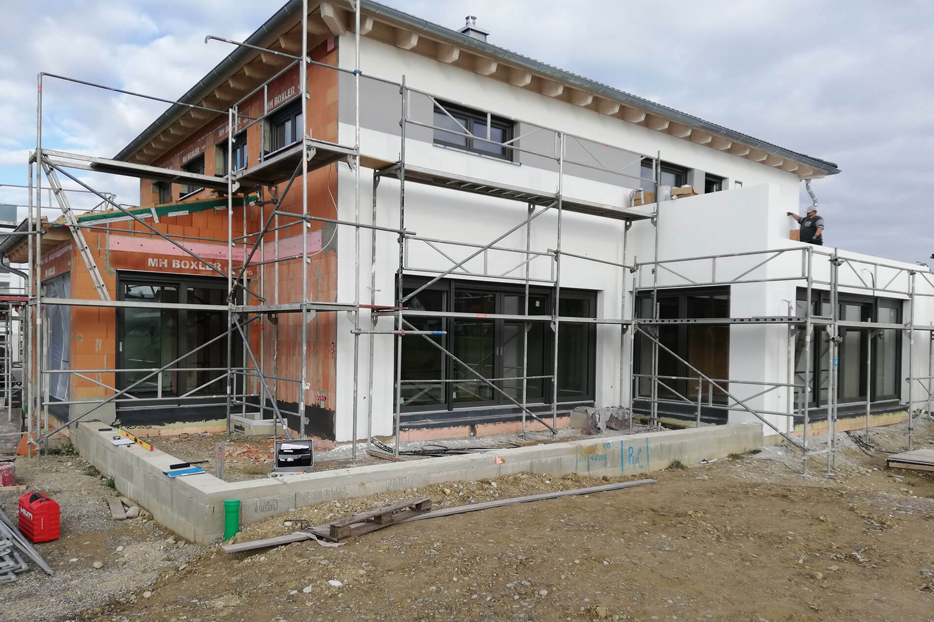 Haus ohne Terrassenüberdachung