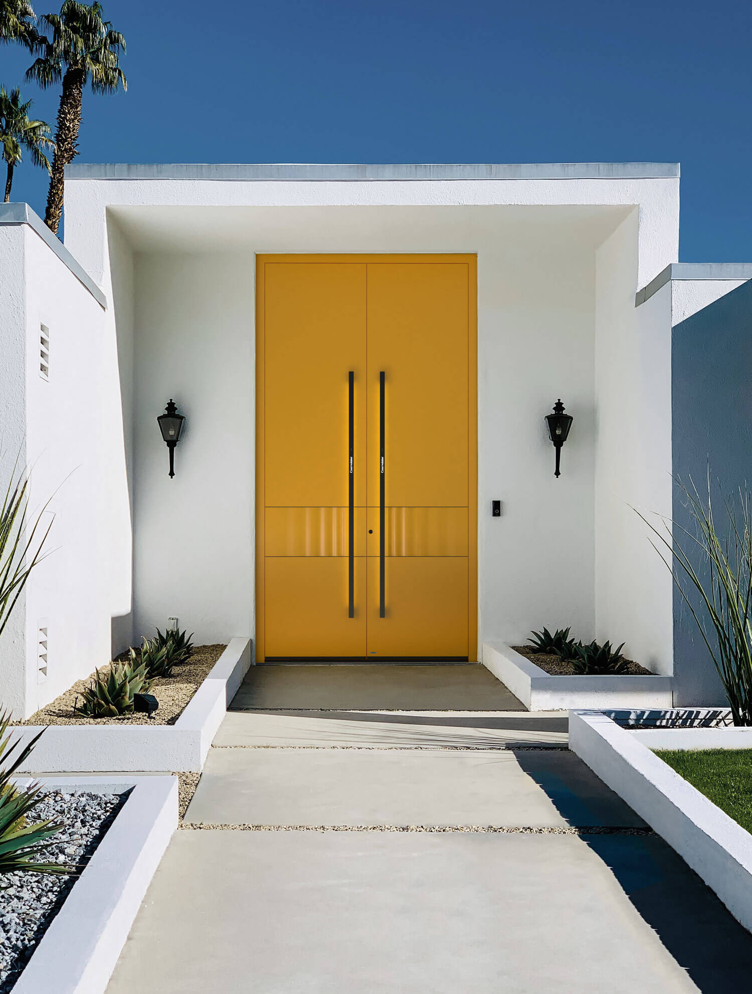 Haustüre gelb