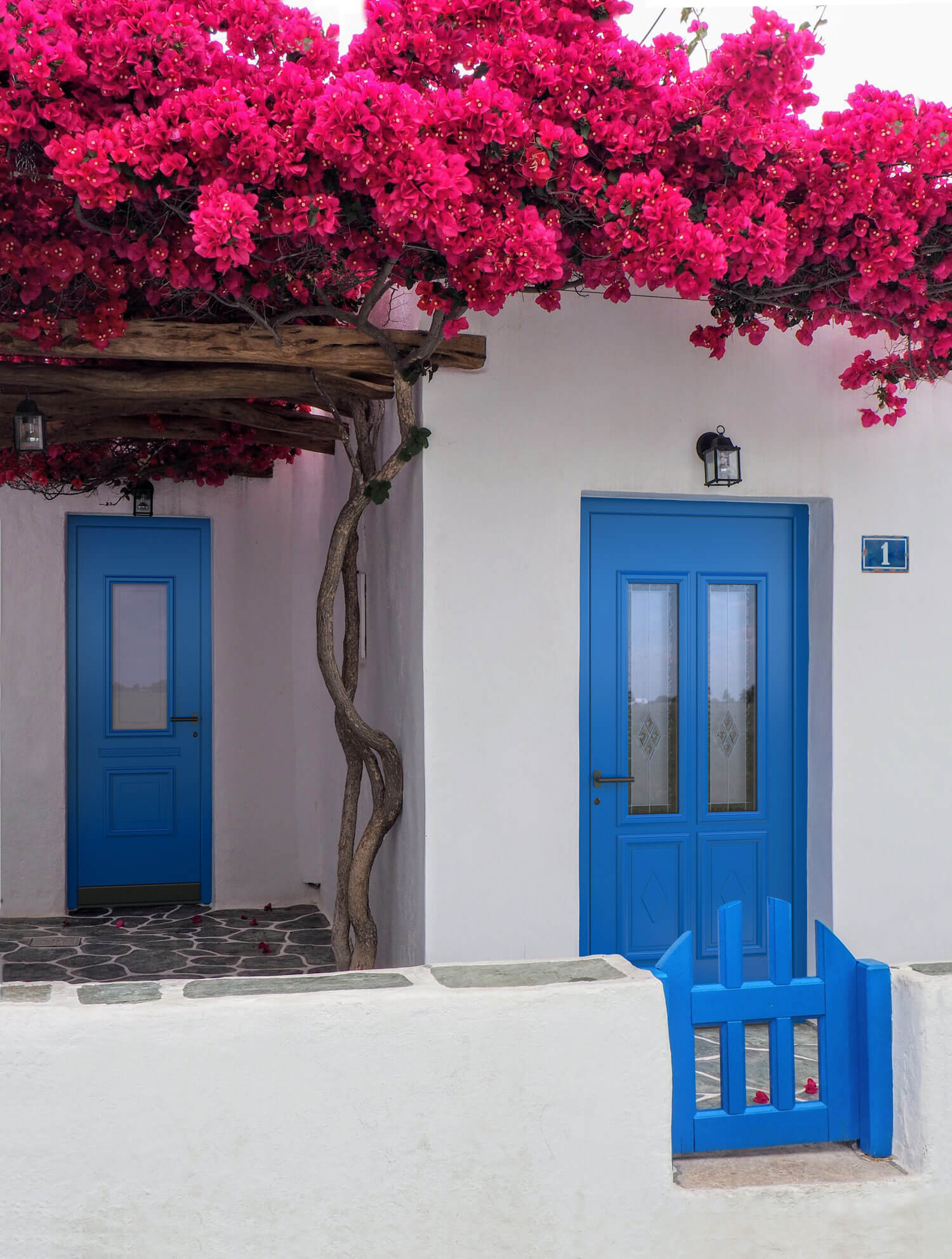 Haustüre blau