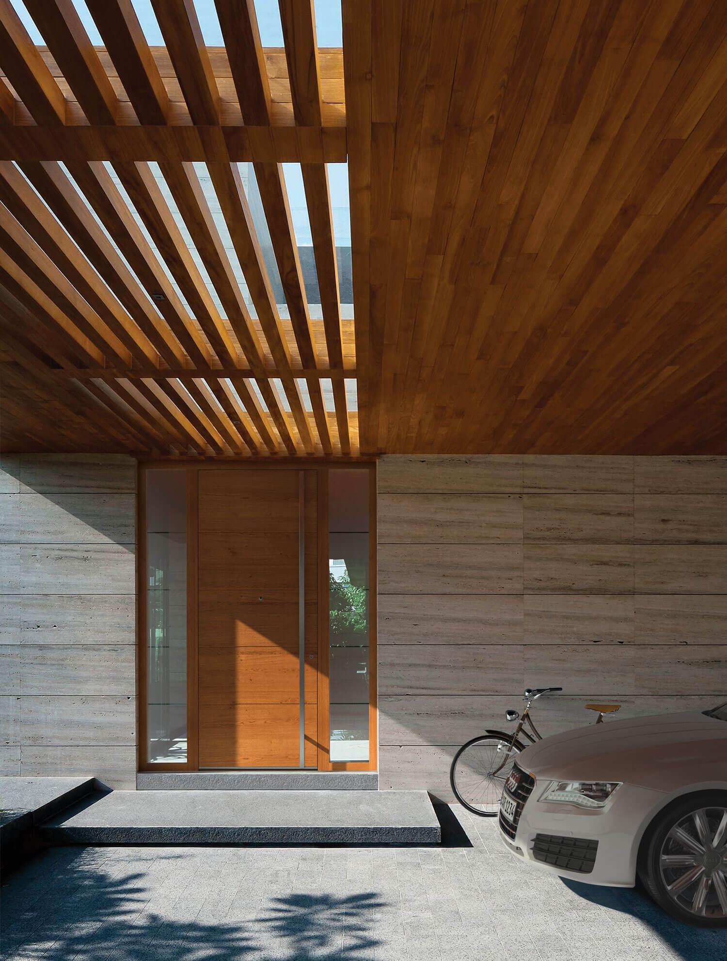 Haustüre Holzoptik